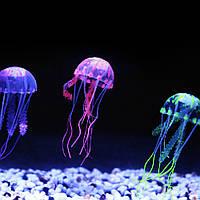 Декоративная медуза для аквариума, силиконовая медуза