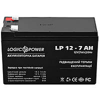 Аккумулятор LOGIC POWER AGM LPM 12 - 7,2 AH для портативной электроники техники фотолаппаратов плееров
