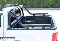 Nissan Navara Ролл-бар на кузов черный 76мм