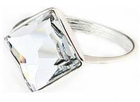 """Кольцо """"Шедар"""" с кристаллами Swarovski, покрытое родием (b832f000)"""
