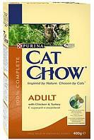Cat Chow (Кет Чау) Сухой корм для кошек Adult, курица индейка 400гр