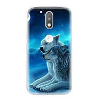 Чехол с рисунком для Motorola Moto G4 XT1622 Пара волков