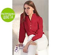 Блузка с пуговицами, бордовая / Женская рубашка с нагрудными карманами, модная, новинка 2017-2018