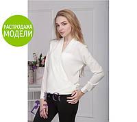 Блузка с длинным рукавом, белая / Женская рубашка с манжетами, свободный крой, разные цвета, 2017