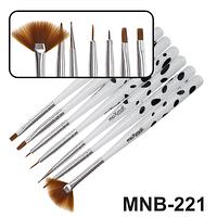 MNB-221 Набор кисточек для ногтевого дизайна из 7 инструментов