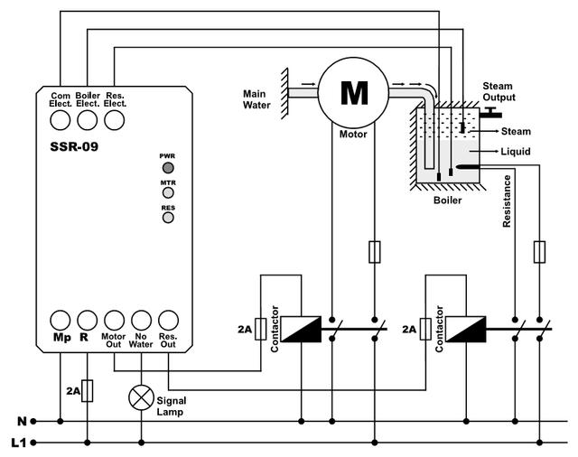 Реле контроля уровня воды в нагревателе