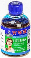 Чернила WWM HELENA для HP 200г Cyan Водорастворимые (HU/C) универсальные (0167.5)