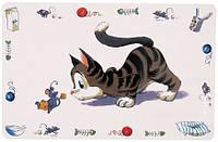24544 Trixie Cat & Mouse коврик под миски, 44х28 см