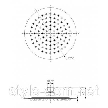 Верхний душ Imprese Universal (S200SS2), фото 2