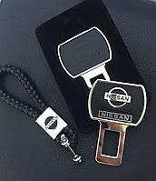 Кожаный брелок для автоключей с логотипом Nissan (Ниссан)