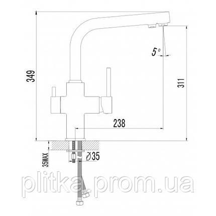 Смеситель для кухни Imprese DAICY 55009-F, фото 2