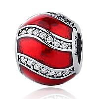 Серебряный шарм Пандора (Pandora) красное украшение