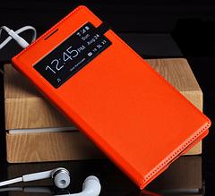 Чехол для Samsung Galaxy S4 i9500 S-View оранжевый