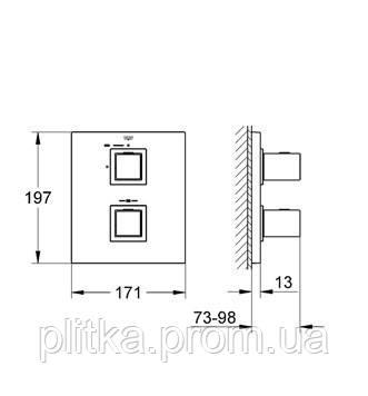 19959000 Grohtherm Cube Термостат для душа, хром, фото 2