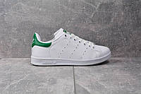 Кроссовки ADIDAS STAN SMITH J (Бело-зеленые)