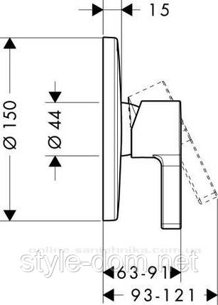 31665000 Metris S Смеситель для душа (скрыт. монтаж), фото 2