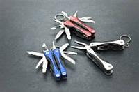 Мультиинструмент-брелок A96, содержит 10 элементов, легковесный, компактный, миниатюрный