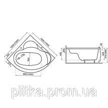 Ванна симметричная STANDARD1 130x130, фото 3