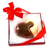 Шоколадный подарок на 14 февраля. Сердце Двух половинок из бельгийского шоколада, фото 1