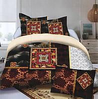Комплект постельного белья (евро-размер) № 734