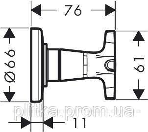 71976000 Logis Classic Запорный вентиль (скрытая часть 15970180 отдельно), хром, фото 2
