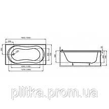 Ванна прямоугольная GRACJA 150x70, фото 3