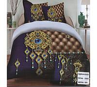 Комплект постельного белья (евро-размер) № 722