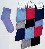 Однотонные женские носки, мягкие, удобные, разные цвета / красивые женские носочки, качественные, с рюшами  37-41