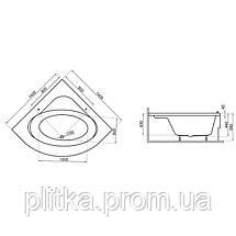 Ванна симметричная STANDARD2 140x140, фото 3