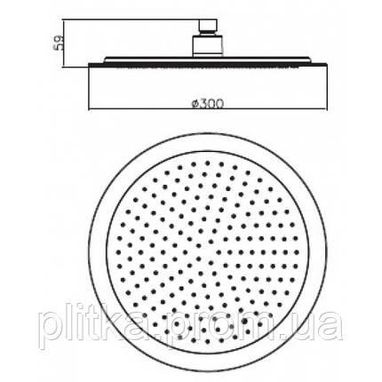 Верхний душ Imprese Universal S300, фото 2