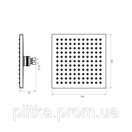 Верхний душ Imprese Universal SQ200, фото 2