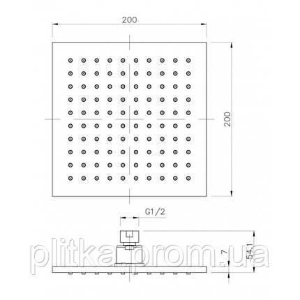 Верхний душ Imprese Universal SQ200B, фото 2