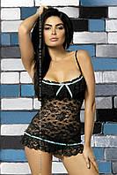 Откровенный комплект нижнего белья Obsessive Curacao black