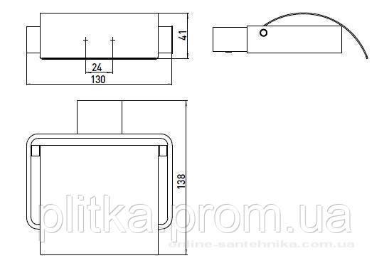 Держатель туалетной бумаги Loft 0500 001 00, фото 2