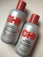 Шампунь и кондиционер для восстановления волос CHI infra по 177мл