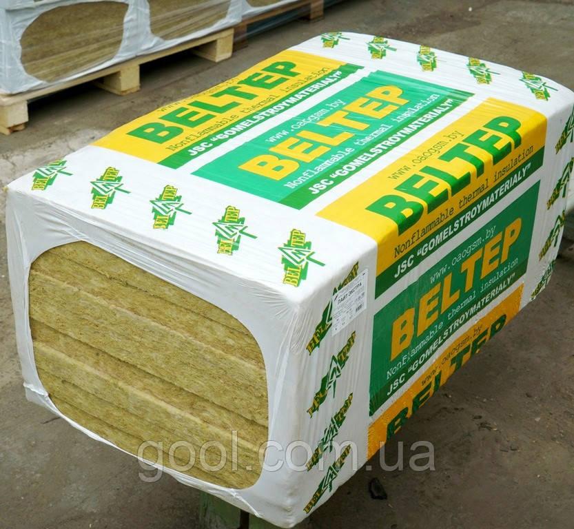 Фасадная вата Белтеп Фасад 12 плотность 135 кг/м3 1000х600х50 мм.