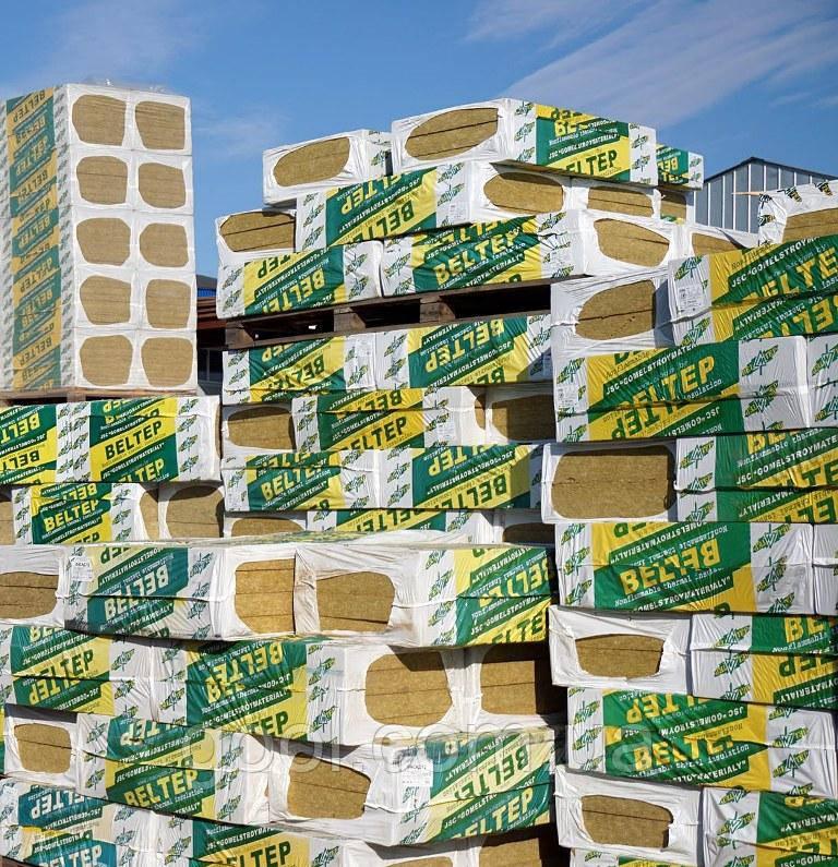 Фасадная вата Белтеп Фасад плотность 110 кг/м3 1000х600х100 мм.