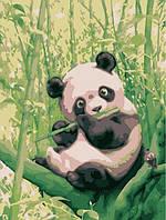 Картина по номерам Забавная панда КНО2440 Идейка