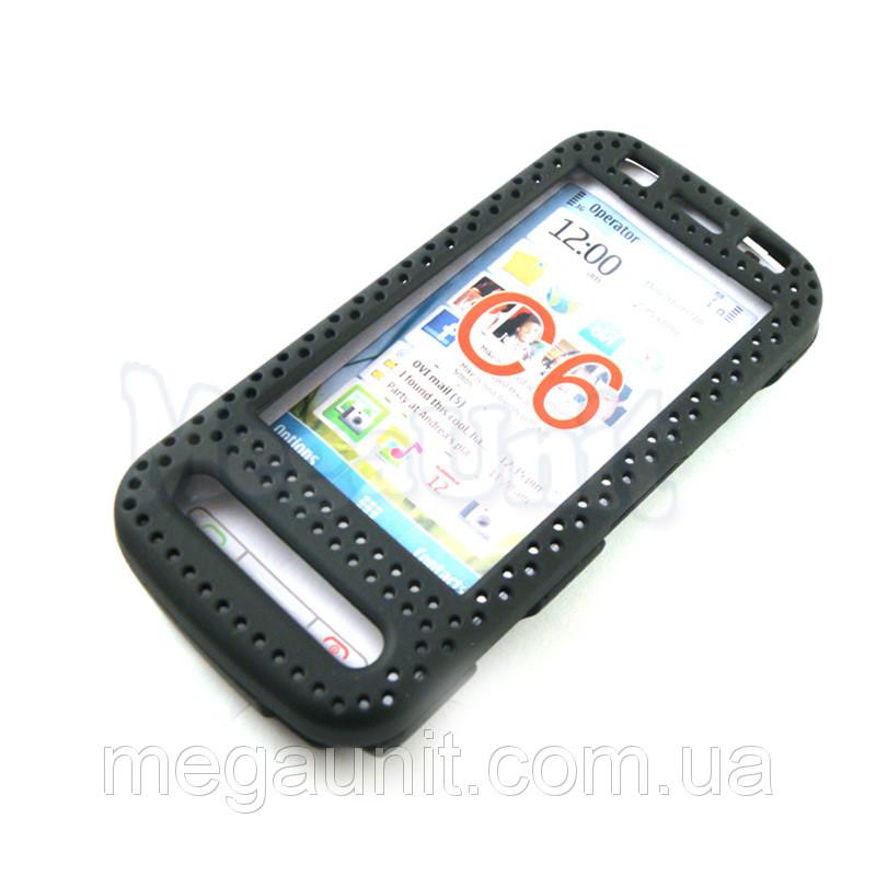 Пластиковый чехол-сетка для Nokia C6-00