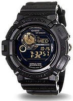 Мужские часы Casio G-Shock G9300GB-1 MUDMAN Касио противоударные японские кварцевые