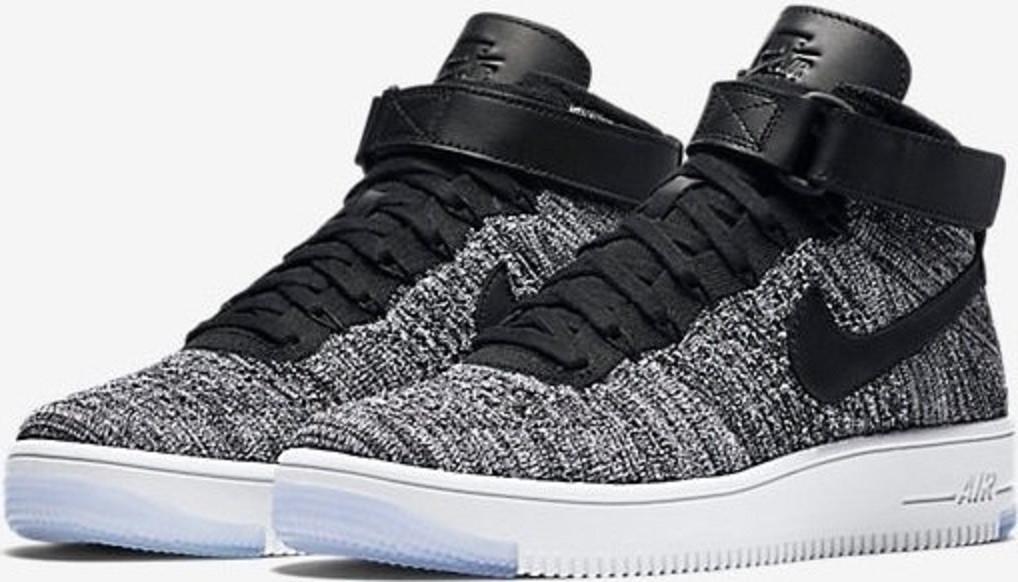 e8a091d8 Купить кроссовки мужские Nike Air Force 1 Ultra Flyknit Black Grey в  магазине tehnolyuks.prom