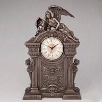 """Красивые часы """"Ангелы"""" с бронзовым покрытием  20х33 см"""