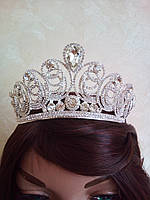 Диадема для невесты, корона, тиара в серебре,  высота 6,5 см.