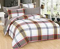 Комплект постельного белья евро, поплин 100% хлопок. Постільна білизна. (арт.7772)