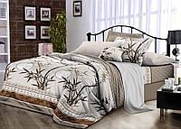 Комплект постельного белья евро, поплин 100% хлопок. Постільна білизна. (арт.7777)