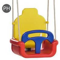 Качели детские 3в1, колыбельные, (красно-желтая)