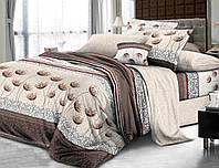 Комплект постельного белья евро, поплин 100% хлопок. Постільна білизна. (арт.7783)