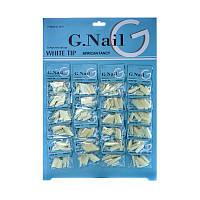 Типсы для наращивания G.Nail №G1011, острые