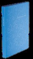 Папка пластиковая c 20 файлами А4 BAROCCO, голубой