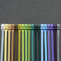 Хомут нейлоновый с низким профилем замка (многоразовые) 8х400 APRO цвет салатовый
